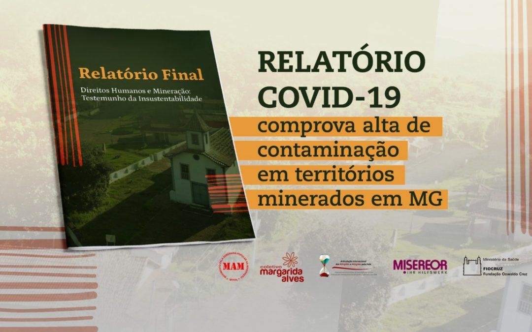 Relatório sobre mineração e pandemia comprova maior incidência da Covid-19 em territórios minerados